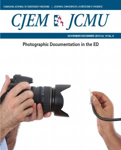 DEM Randomized Trial Featured on cover of the Canadian Journal of Emergency Medicine (CJEM).