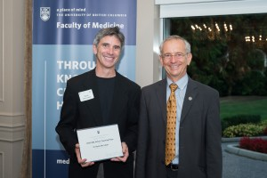 Dr. Riyad Abu-Laban receiving UBC 2015 Killam Teaching Prize