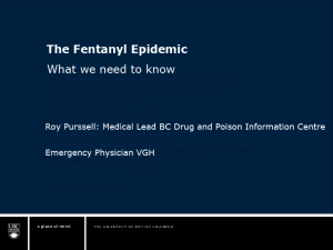 Fentanyl Epidemic Webinar – May 24, 2016