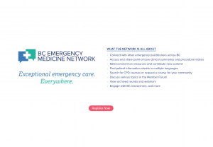 BC Emergency Medicine Network Launch