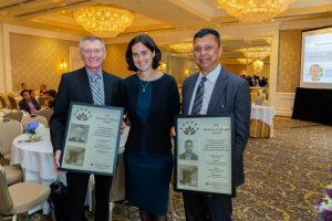 Jim, Aslam and Fiona at APHCRI Award ceremony